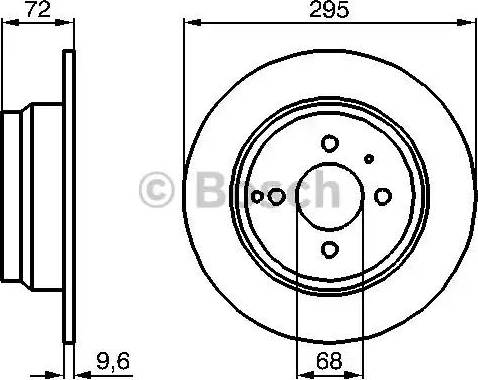 BOSCH 0 986 478 640 - Bremžu diski interparts.lv