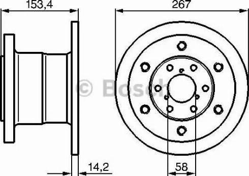 BOSCH 0 986 478 647 - Bremžu diski interparts.lv