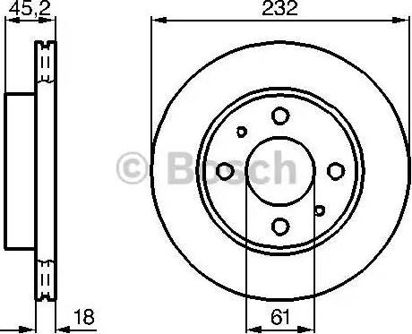 BOSCH 0 986 478 650 - Bremžu diski interparts.lv