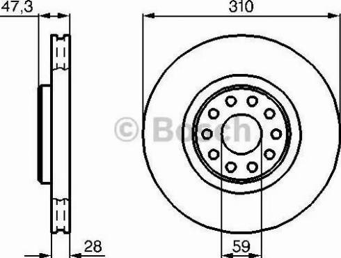 BOSCH 0 986 478 669 - Bremžu diski interparts.lv
