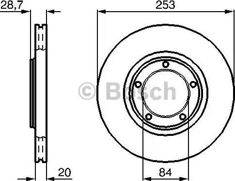 BOSCH 0 986 478 664 - Bremžu diski interparts.lv
