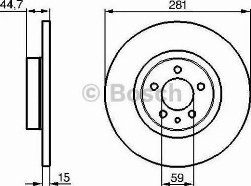 BOSCH 0 986 478 668 - Bremžu diski interparts.lv