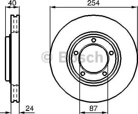 BOSCH 0 986 478 663 - Bremžu diski interparts.lv