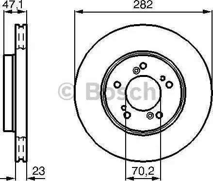 BOSCH 0 986 478 667 - Bremžu diski interparts.lv