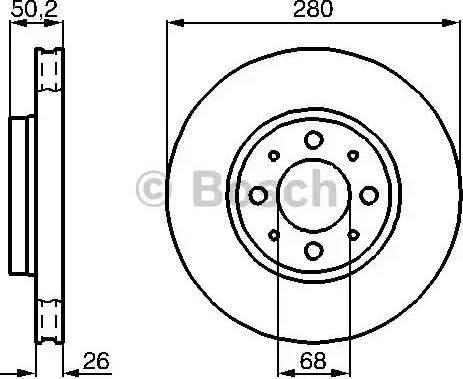 BOSCH 0 986 478 602 - Bremžu diski interparts.lv