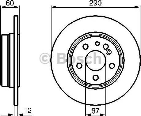BOSCH 0 986 478 607 - Bremžu diski interparts.lv