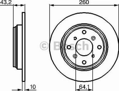 BOSCH 0 986 478 680 - Bremžu diski interparts.lv