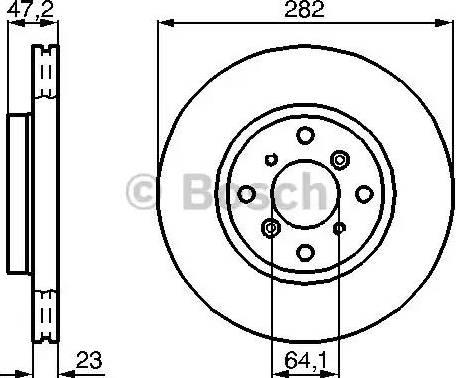 BOSCH 0 986 478 681 - Bremžu diski interparts.lv