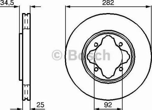 BOSCH 0 986 478 634 - Bremžu diski interparts.lv