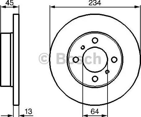BOSCH 0 986 478 636 - Bremžu diski interparts.lv