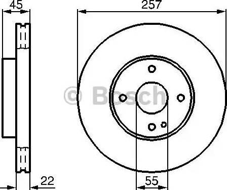 BOSCH 0 986 478 638 - Bremžu diski interparts.lv