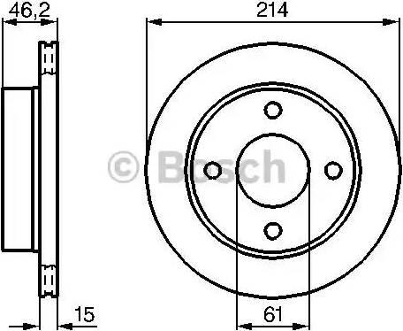 BOSCH 0 986 478 637 - Bremžu diski interparts.lv