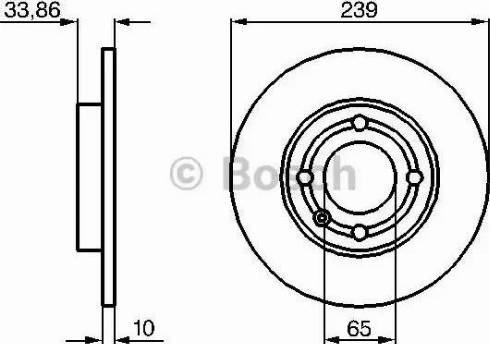 BOSCH 0 986 478 620 - Bremžu diski interparts.lv