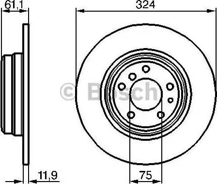 BOSCH 0 986 478 095 - Bremžu diski interparts.lv