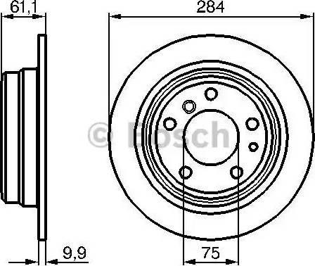 BOSCH 0 986 478 044 - Bremžu diski interparts.lv