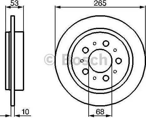 BOSCH 0 986 478 042 - Bremžu diski interparts.lv