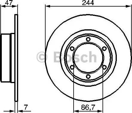 BOSCH 0 986 478 050 - Bremžu diski interparts.lv