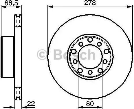 BOSCH 0 986 478 061 - Bremžu diski interparts.lv