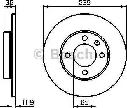 BOSCH 0 986 478 011 - Bremžu diski interparts.lv