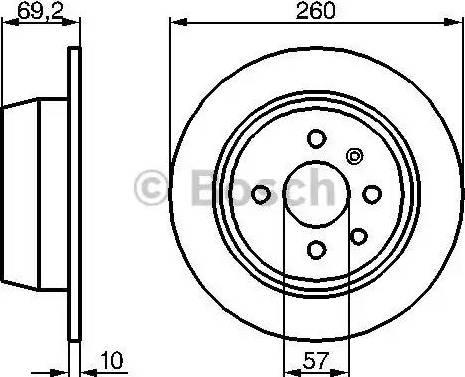 BOSCH 0 986 478 086 - Bremžu diski interparts.lv