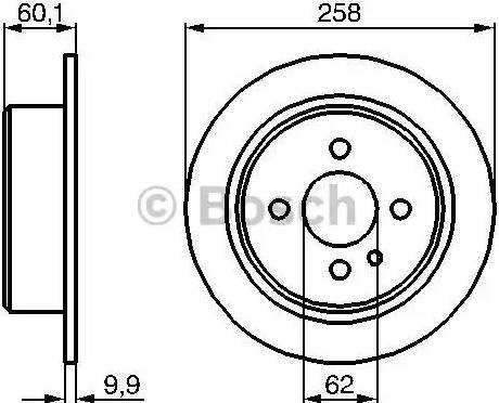 BOSCH 0 986 478 034 - Bremžu diski interparts.lv