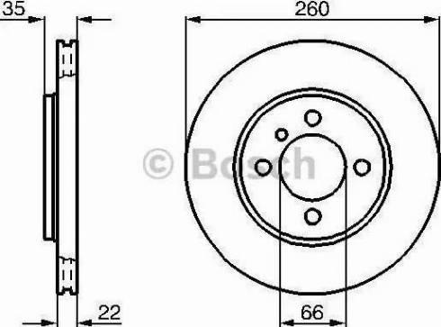 BOSCH 0 986 478 036 - Bremžu diski interparts.lv