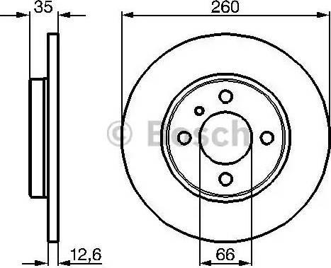 BOSCH 0 986 478 029 - Bremžu diski interparts.lv