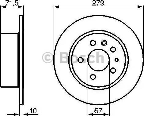 BOSCH 0 986 478 199 - Bremžu diski interparts.lv