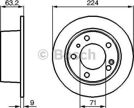 BOSCH 0 986 478 141 - Bremžu diski interparts.lv