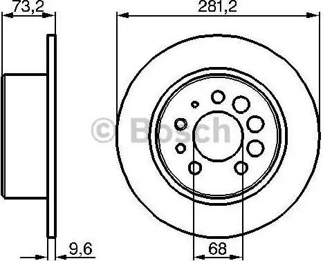 BOSCH 0 986 478 143 - Bremžu diski interparts.lv