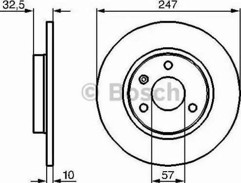 BOSCH 0 986 478 142 - Bremžu diski interparts.lv