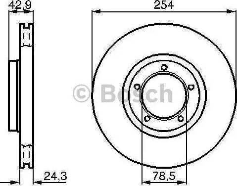 BOSCH 0 986 478 160 - Bremžu diski interparts.lv