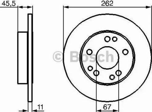 BOSCH 0 986 478 114 - Bremžu diski interparts.lv