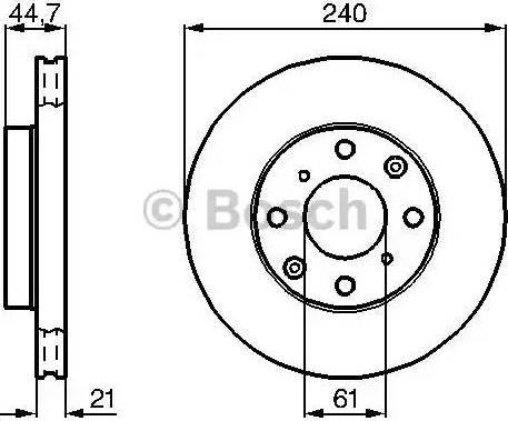BOSCH 0 986 478 115 - Bremžu diski interparts.lv