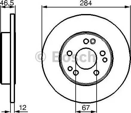 BOSCH 0 986 478 187 - Bremžu diski interparts.lv