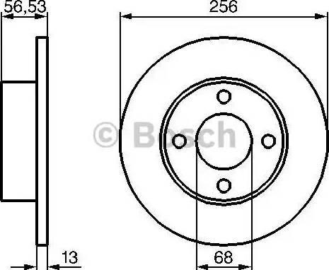 BOSCH 0 986 478 130 - Bremžu diski interparts.lv