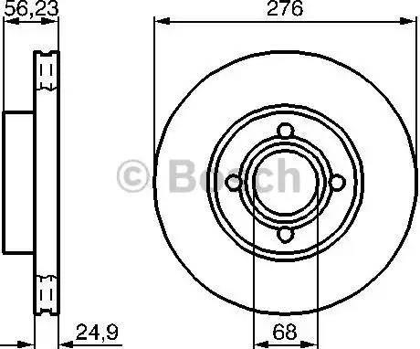 BOSCH 0 986 478 137 - Bremžu diski interparts.lv