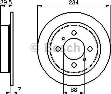 BOSCH 0 986 478 865 - Bremžu diski interparts.lv