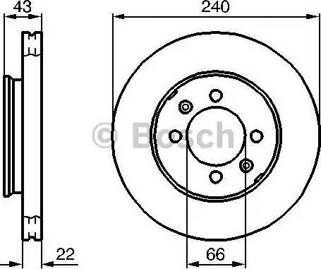 BOSCH 0 986 478 813 - Bremžu diski interparts.lv
