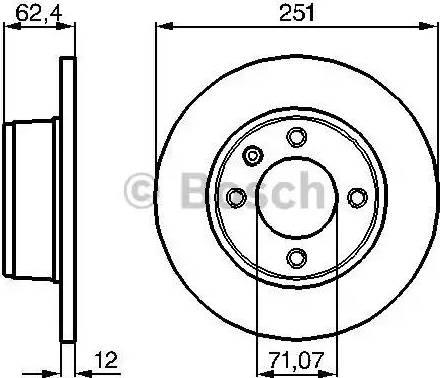BOSCH 0 986 478 879 - Bremžu diski interparts.lv