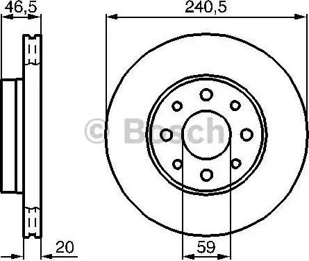 BOSCH 0 986 478 878 - Bremžu diski interparts.lv