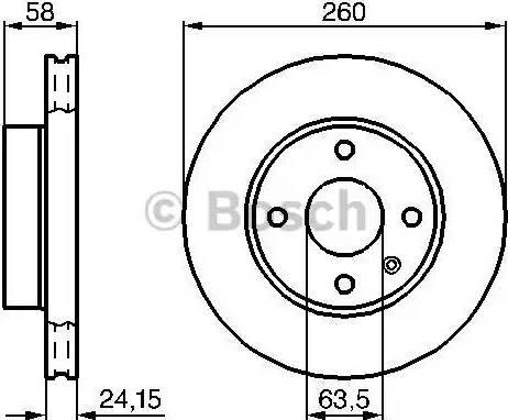 BOSCH 0 986 478 346 - Bremžu diski interparts.lv