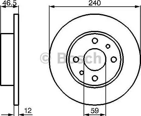 BOSCH 0 986 478 353 - Bremžu diski interparts.lv