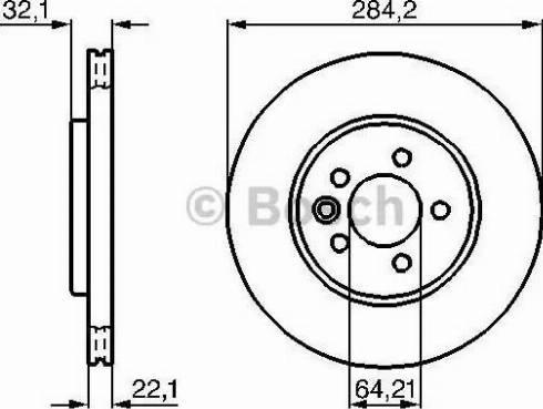 BOSCH 0 986 478 314 - Bremžu diski interparts.lv