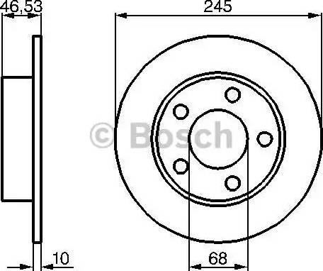 BOSCH 0 986 478 315 - Bremžu diski interparts.lv