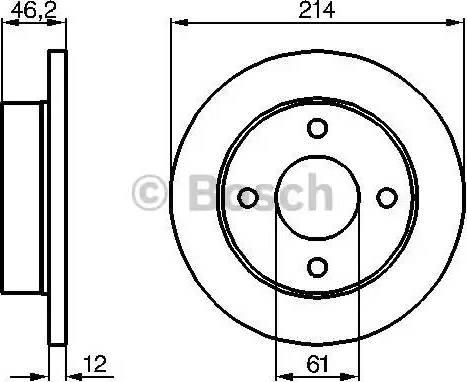 BOSCH 0 986 478 389 - Bremžu diski interparts.lv