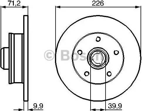 BOSCH 0 986 478 332 - Bremžu diski interparts.lv