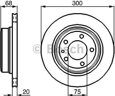 BOSCH 0 986 478 320 - Bremžu diski interparts.lv