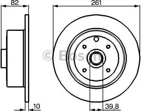 BOSCH 0 986 478 328 - Bremžu diski interparts.lv