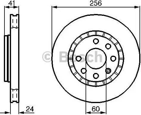 BOSCH 0 986 478 327 - Bremžu diski interparts.lv